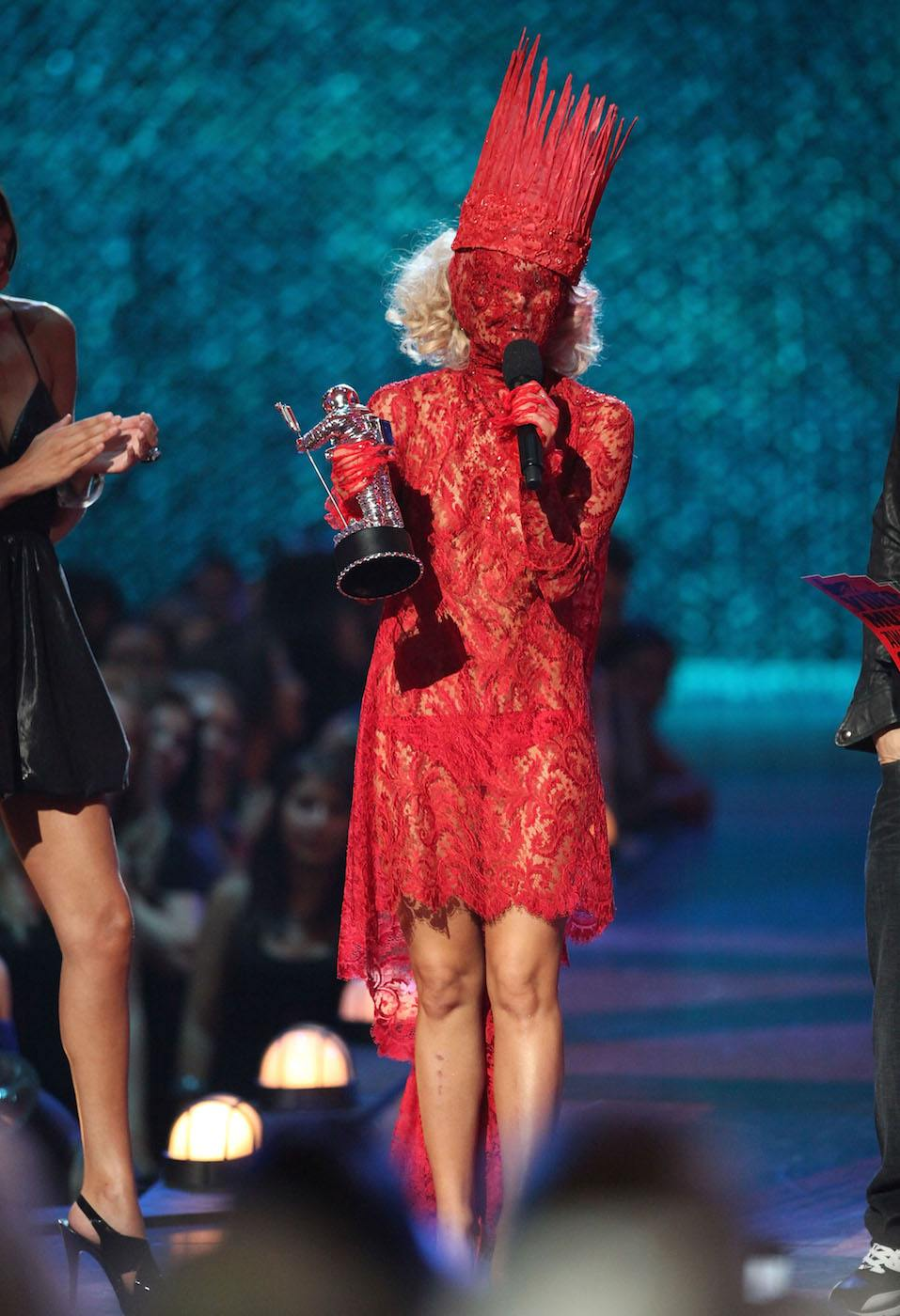 Lady Gaga accepts the award for 'Best New Artist' during the 2009 MTV Video Music Awards at Radio City Music Hall