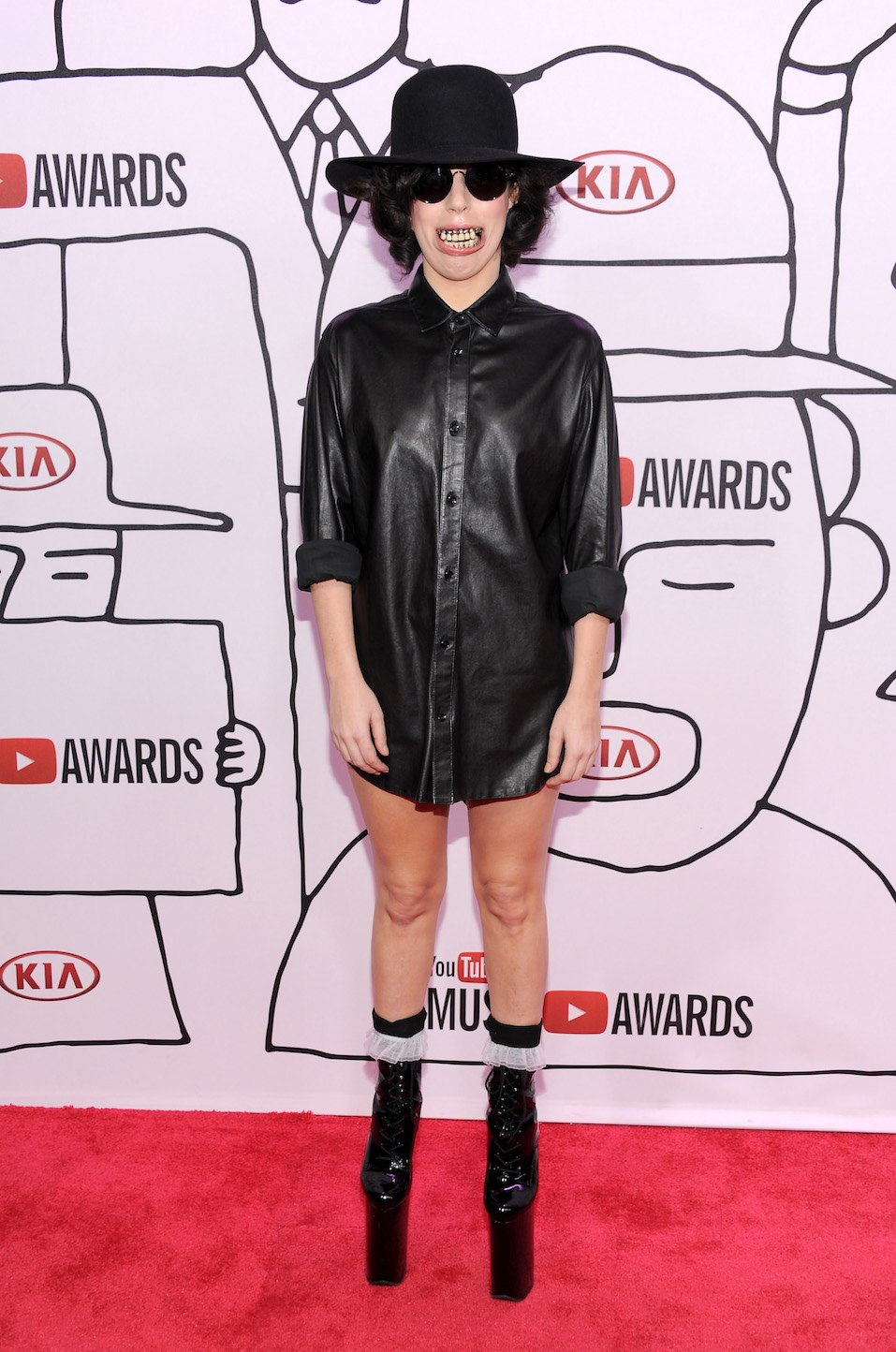 Singer Lady Gaga attends the YouTube Music Awards 2013