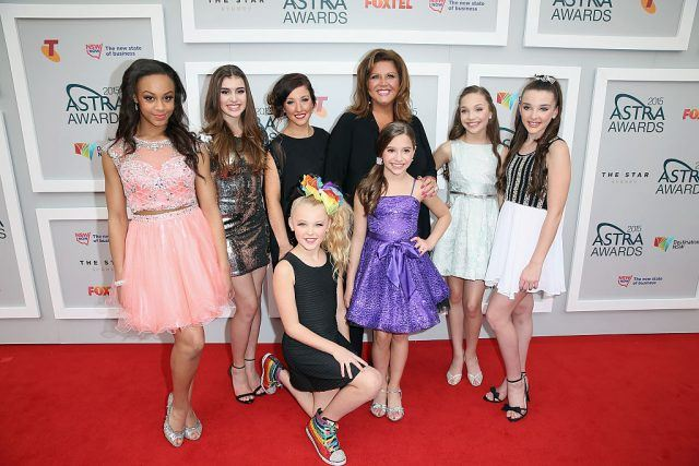 Abby Lee Miller and the cast from Dance Moms arrives at the 2015 ASTRA Awards at the Star