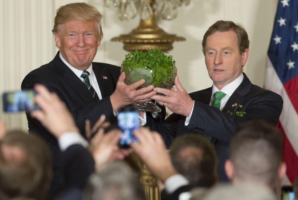 Trump on St. Patricks Day
