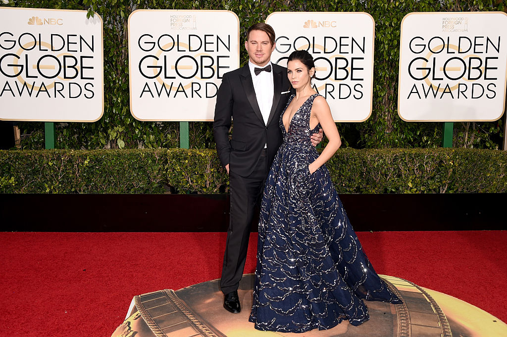 Actors Channing Tatum and Jenna Dewan Tatum attend the 73rd Annual Golden Globe Awards