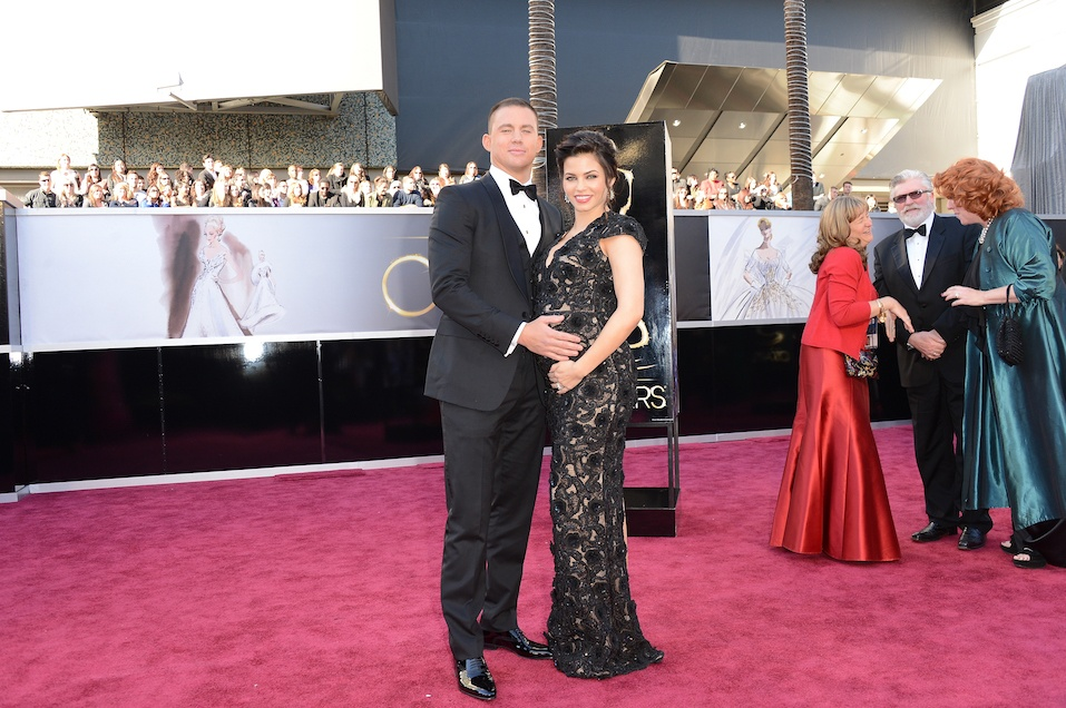 Actors Channing Tatum and Jenna Dewan arrive at the Oscars at Hollywood & Highland Center