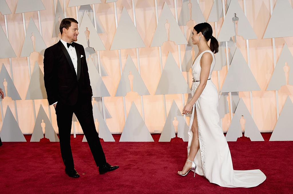 Actors Channing Tatum and Jenna Dewan Tatum attend the 87th Annual Academy Awards
