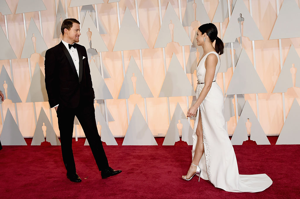Actors Channing Tatum and Jenna Dewan Tatum attend the 87th Annual Academy Awards