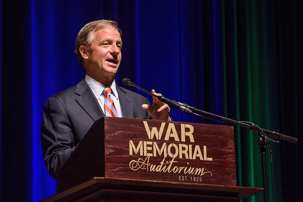 Governor Bill Haslam attends the 90th birthday celebration of War Memorial Auditorium