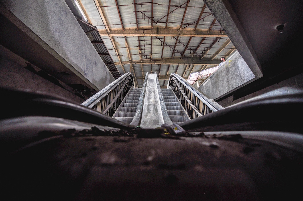 Abandoned mall Escalator
