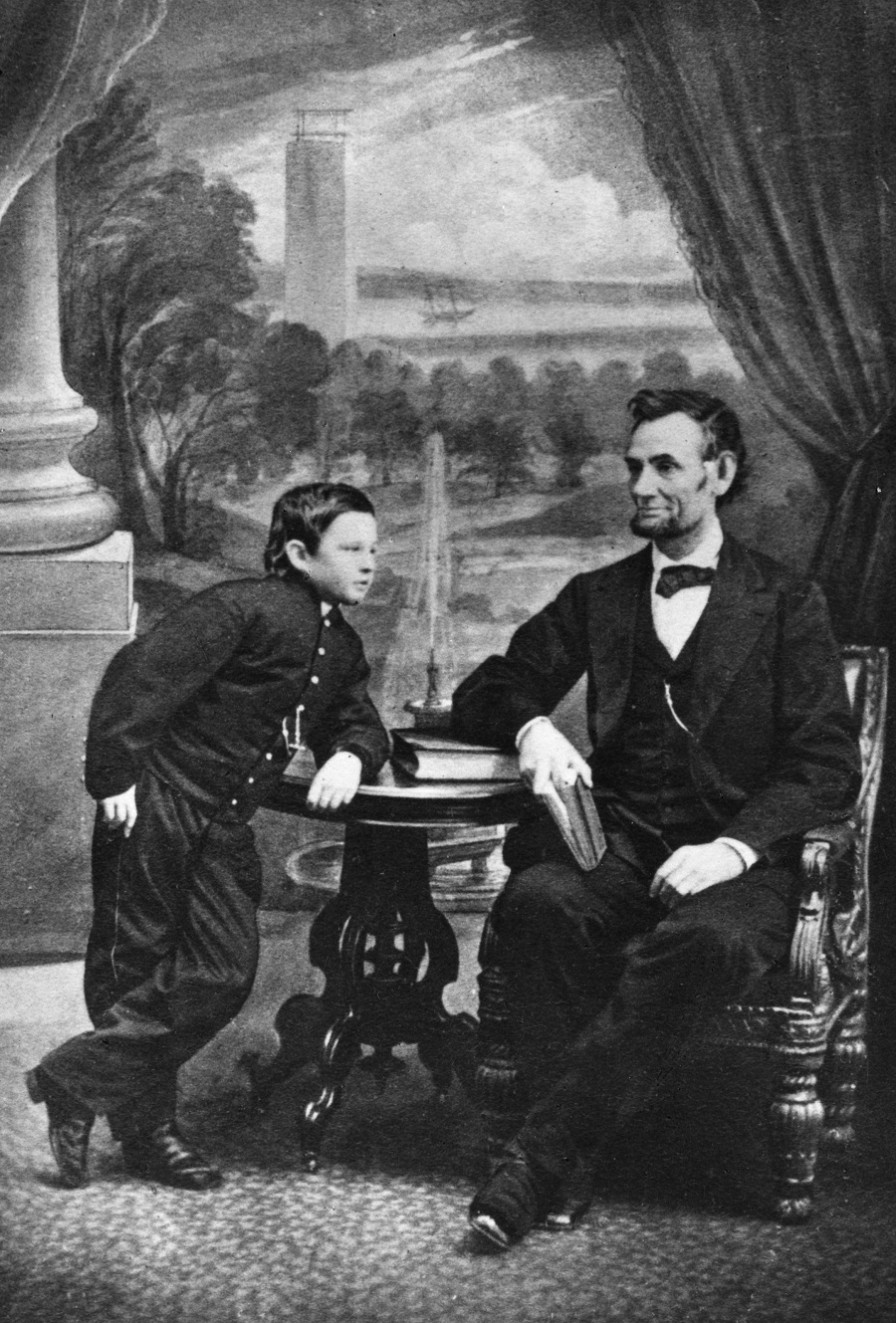 Abraham Lincoln with son