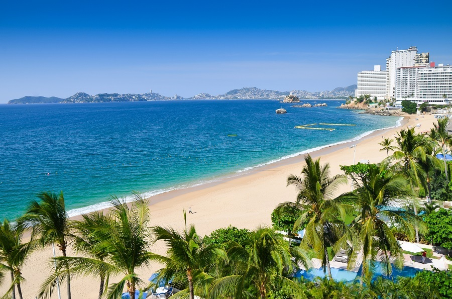 Acapulco beach, Mexico