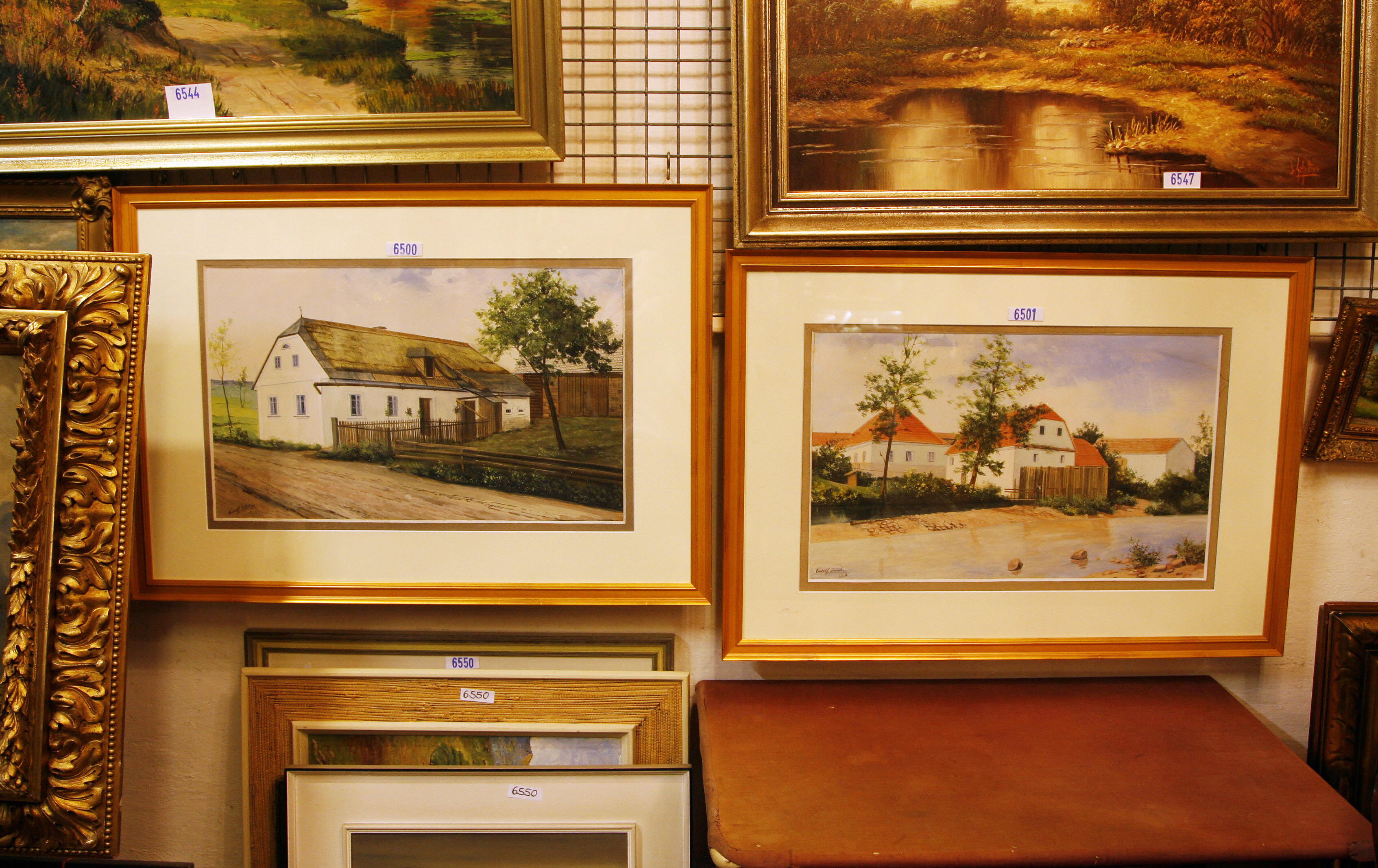 The two paintings attributed to Adolf Hitler