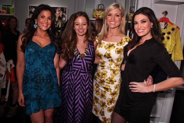 Gigi Stone, Michelle Smith, Ainsley Earhardt, and Kimberly Guilfoyle Villency attend the opening of the Milly Madison Avenue boutique on May 19, 2011 in New York City.