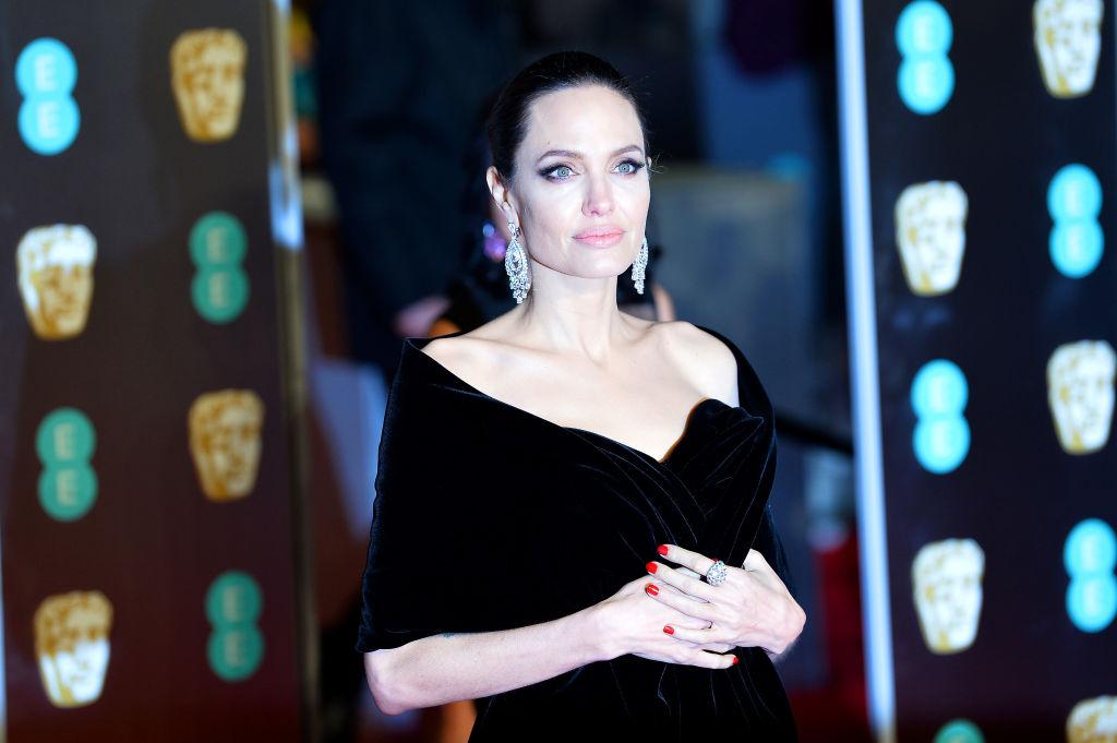 Angelina Jolie in black