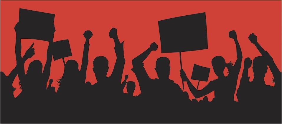 Union member strike