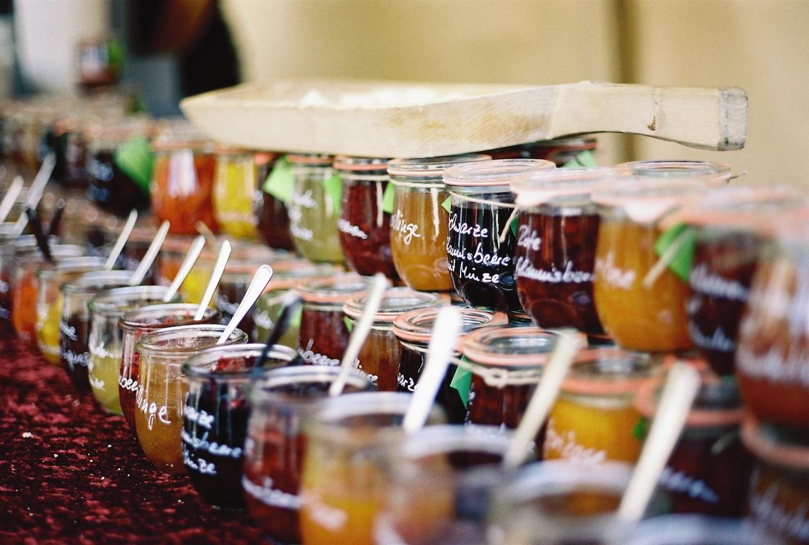 Homemade Jams at farmers market