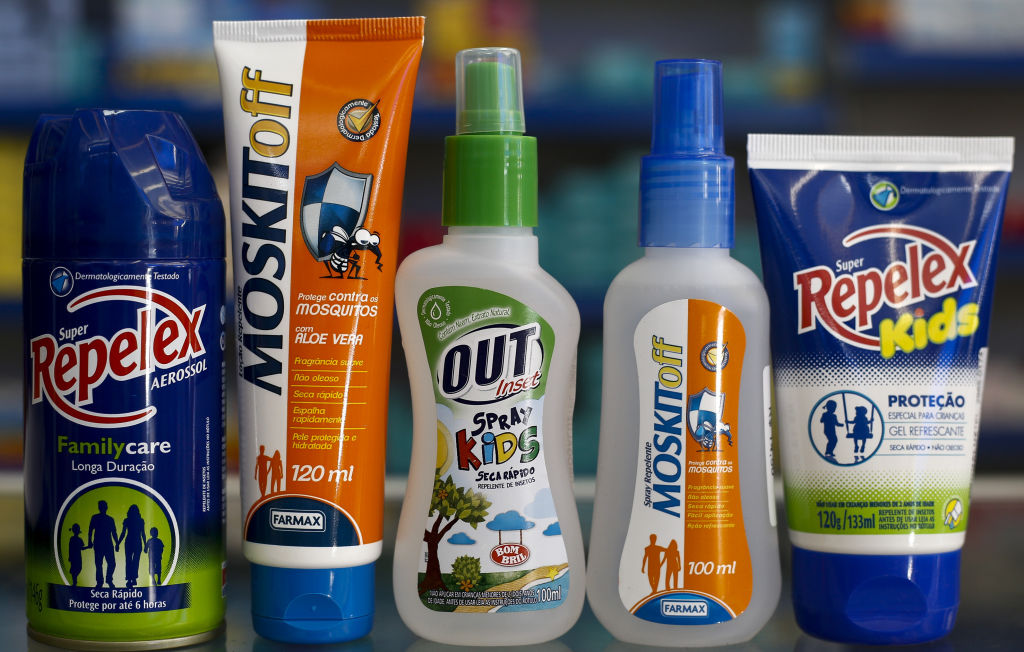 Various brands of repellent