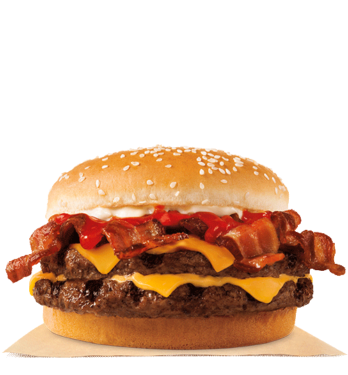 A Burger King sandwich on a white background.