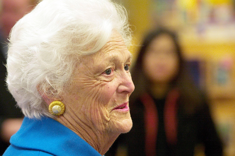 Barbara Bush close up