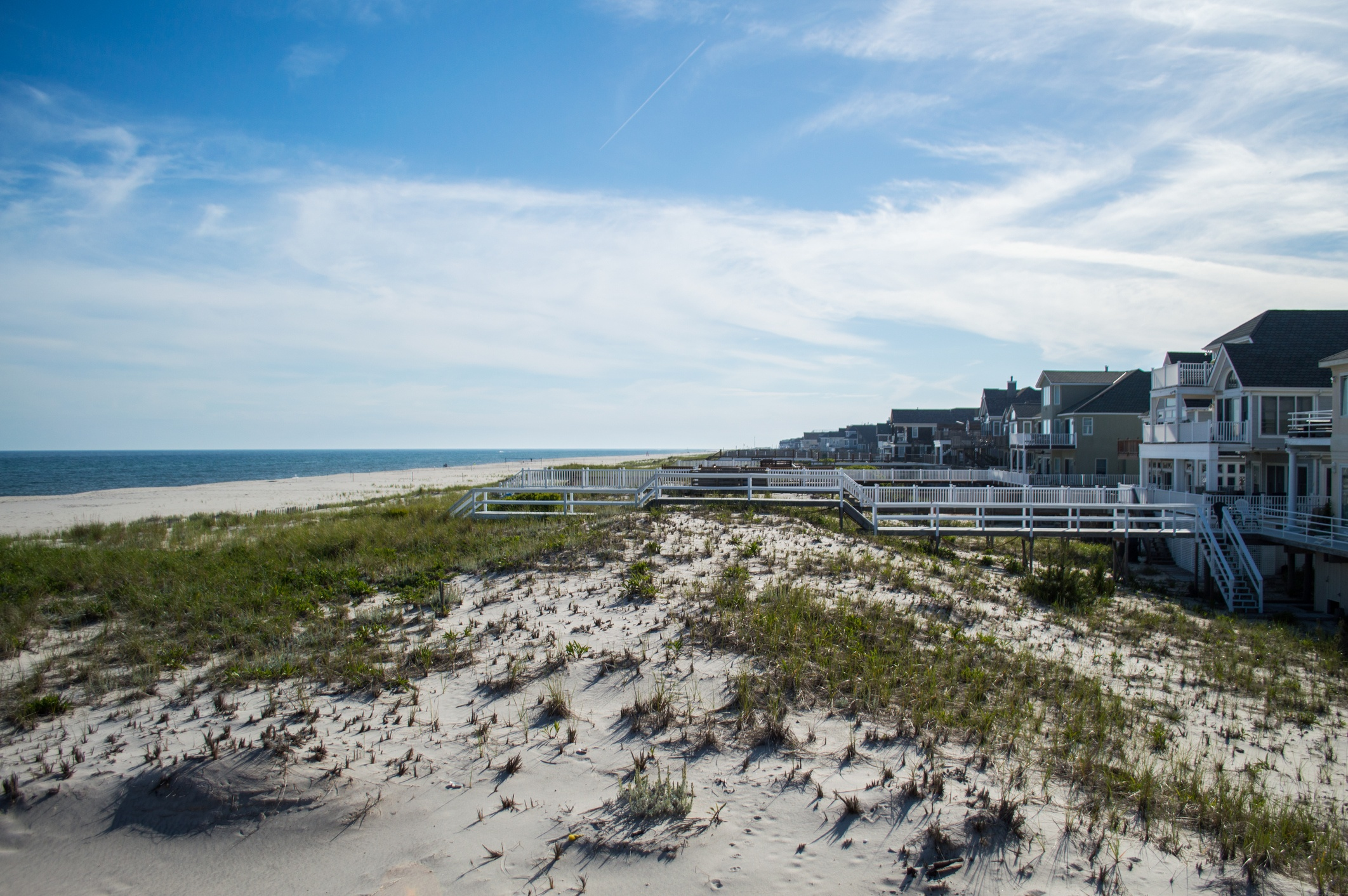 Beach mansions in the Hamptons, New York City, USA