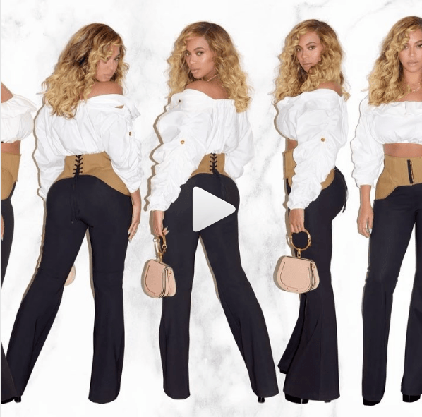 Beyonce looking great four months after she gave birth to twins