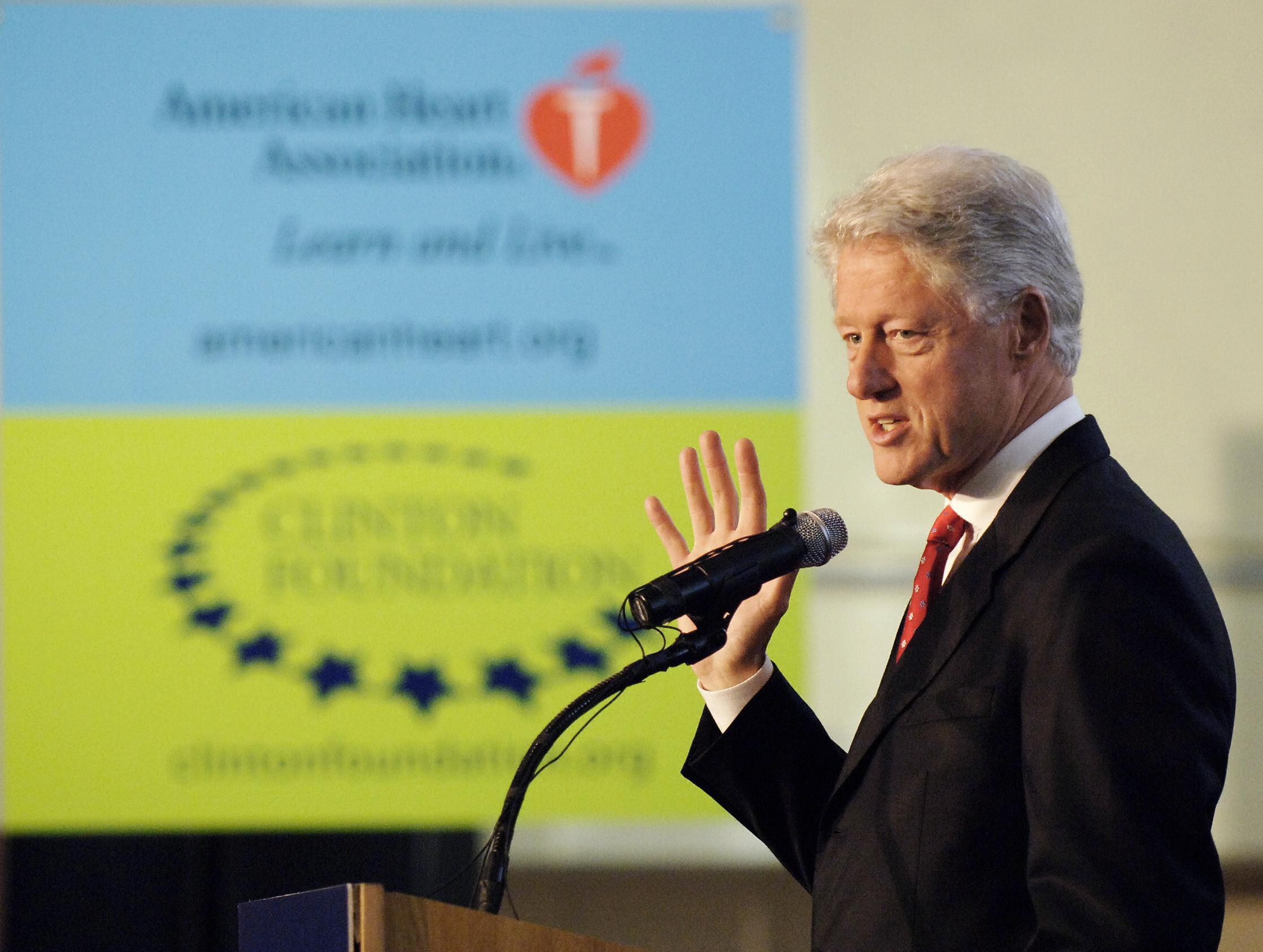 Former US President Bill Clinton speaks