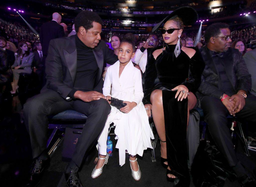 Jay-Z, Beyonce, and Blue Ivy at the 2018 Grammy Awards