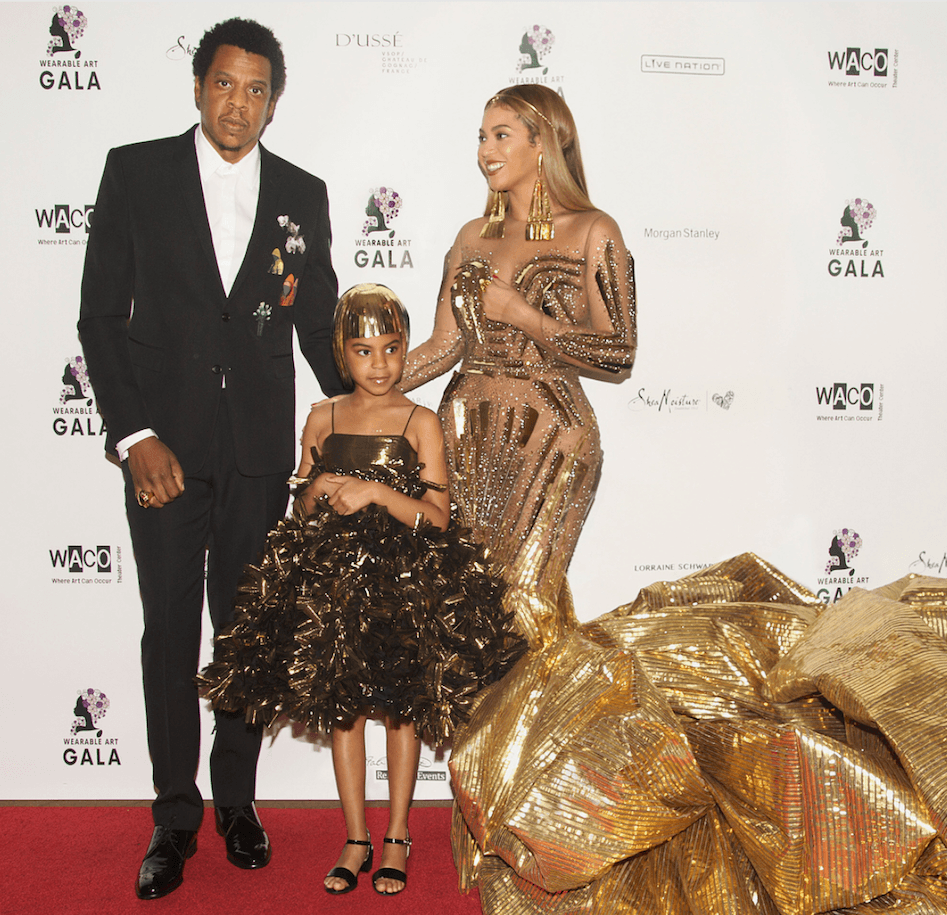 Blue Ivy Jay Z and Beyonce gala
