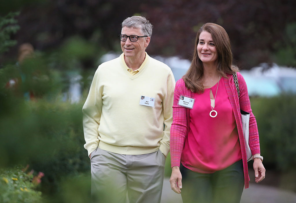 Bill Gates and his wife Melinda Gates