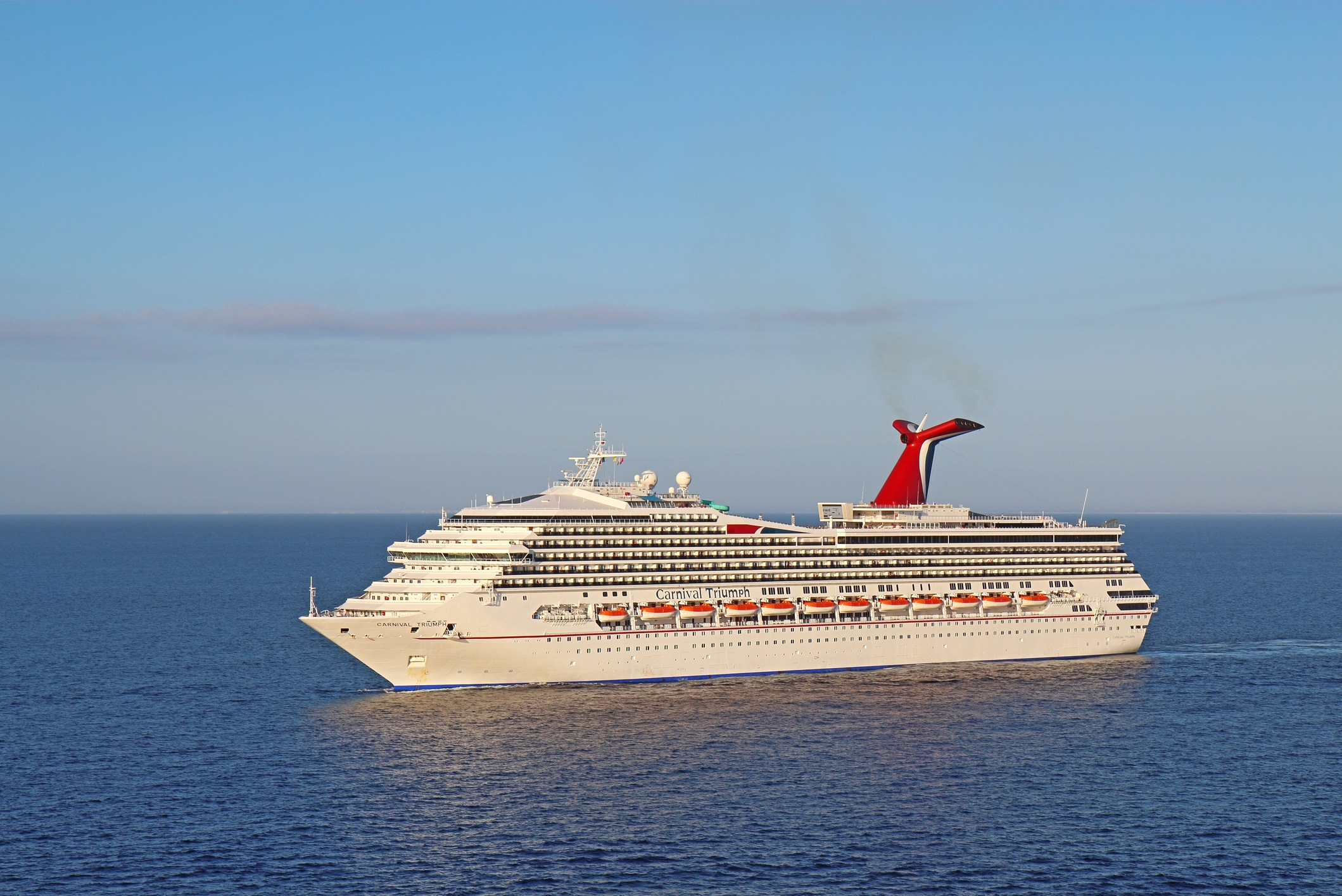 Cruise ship Carnival Triumph on the Caribbean Sea