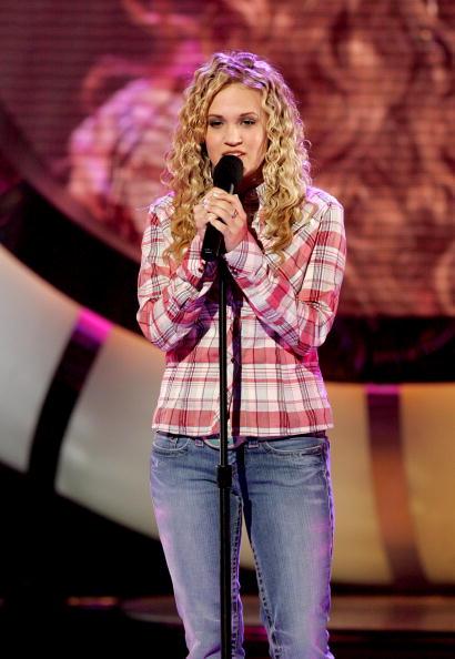 merican Idol Finalist Carrie Underwood performs onstage the American Idol Finale