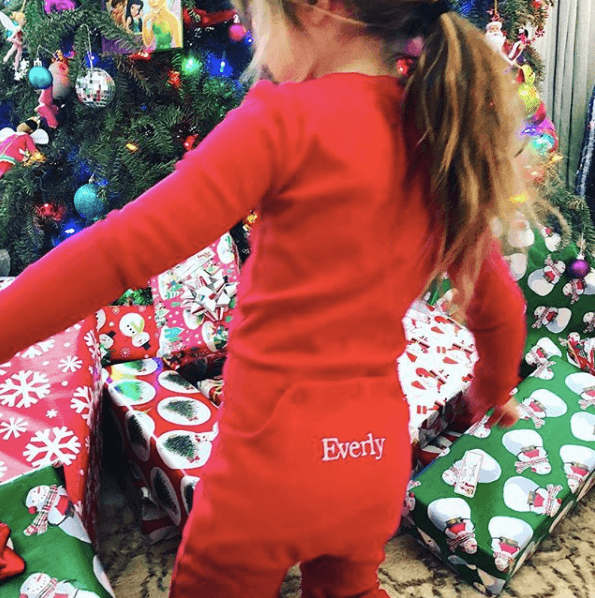 Channing Tatum and Jenna Dewan's daughter on Christmas