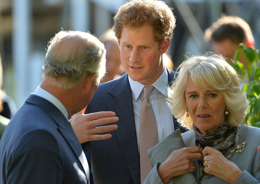 Prince Charles, Prince Of Wales, Prince Harry and Camilla, Duchess Of Cornwall attend the annual Chelsea Flower show at Royal Hospital Chelsea