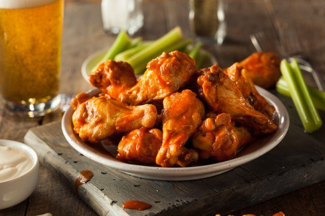 A plate of wings.