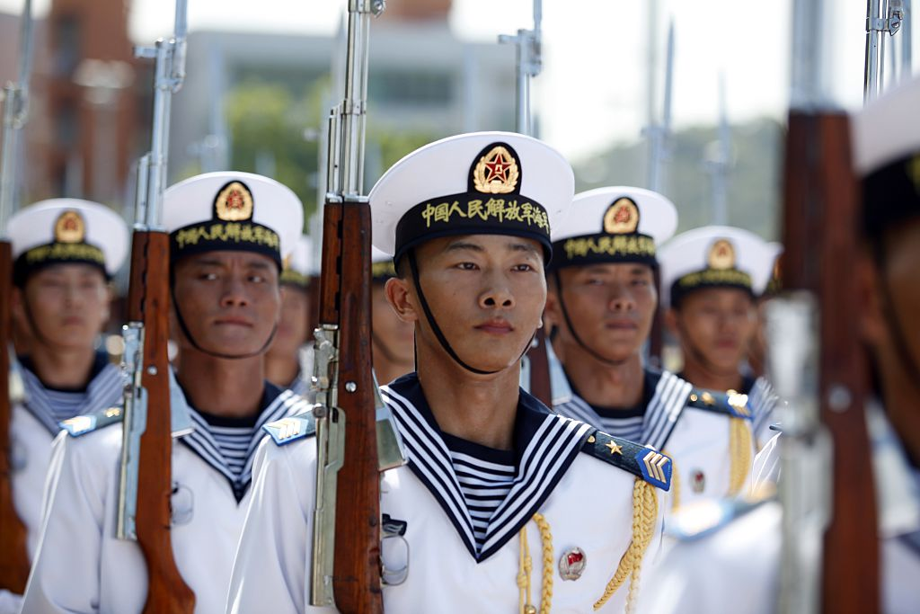 China's Peoples' Liberation Army Navy (PLAN) sailors