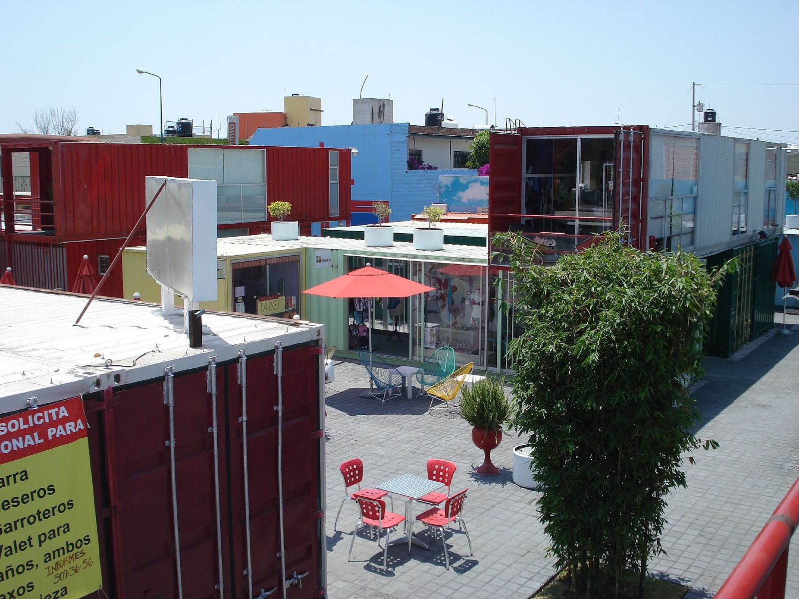 Cholula container city, Mexico