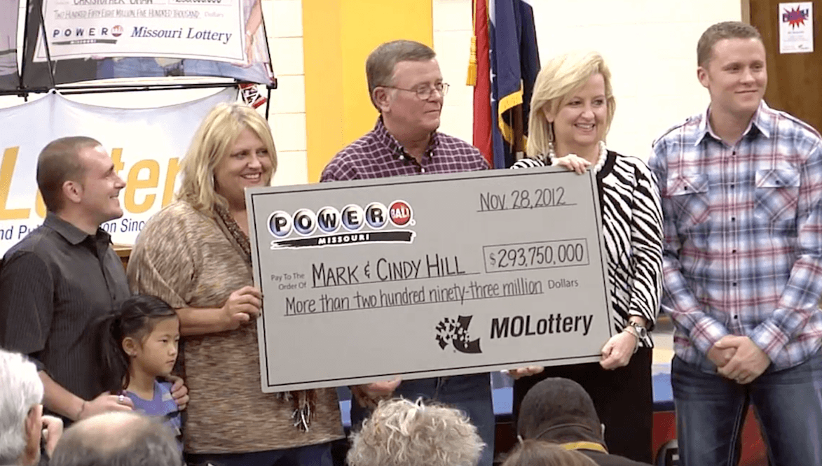 Cindy and Mark Hill lottery winner