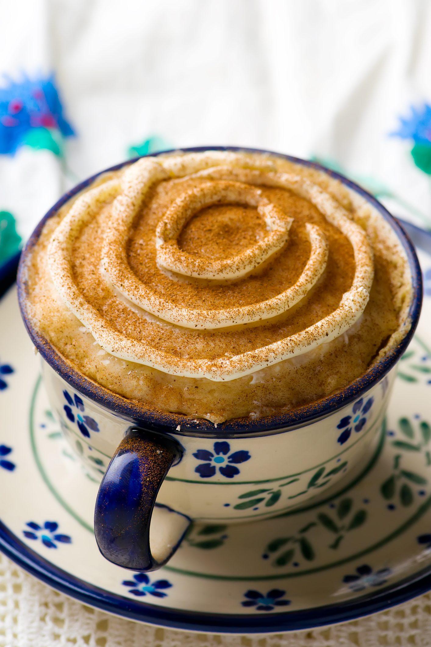 mug cake prepared in microwave