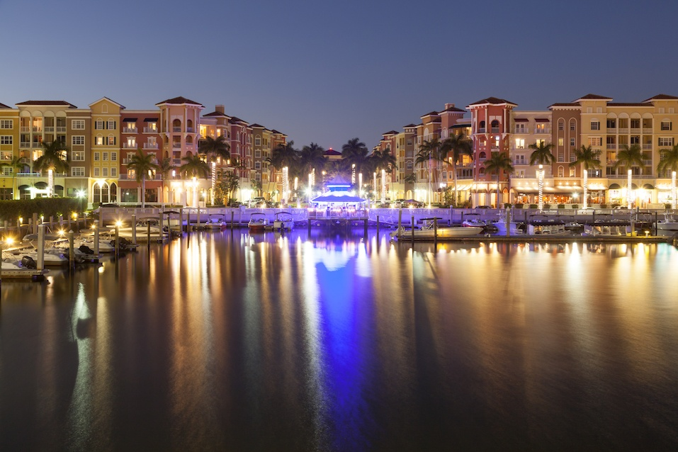 City of Naples at night. Florida, USA