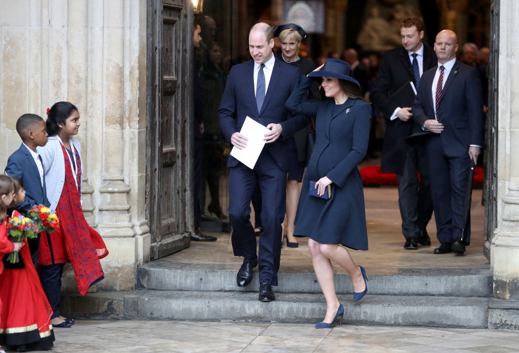 Catherine, Duchess of Cambridge and Prince William, Duke of Cambridge depart from the 2018 Commonwealth Day service at Westminster Abbey