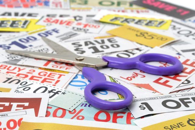 scissors with grocery coupons