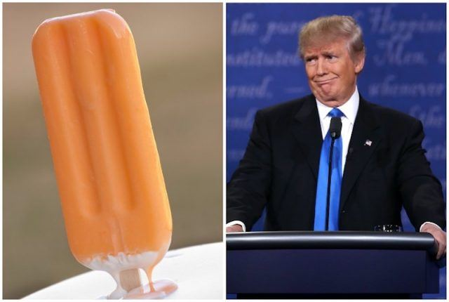 Creamsicle and Donald Trump collage.