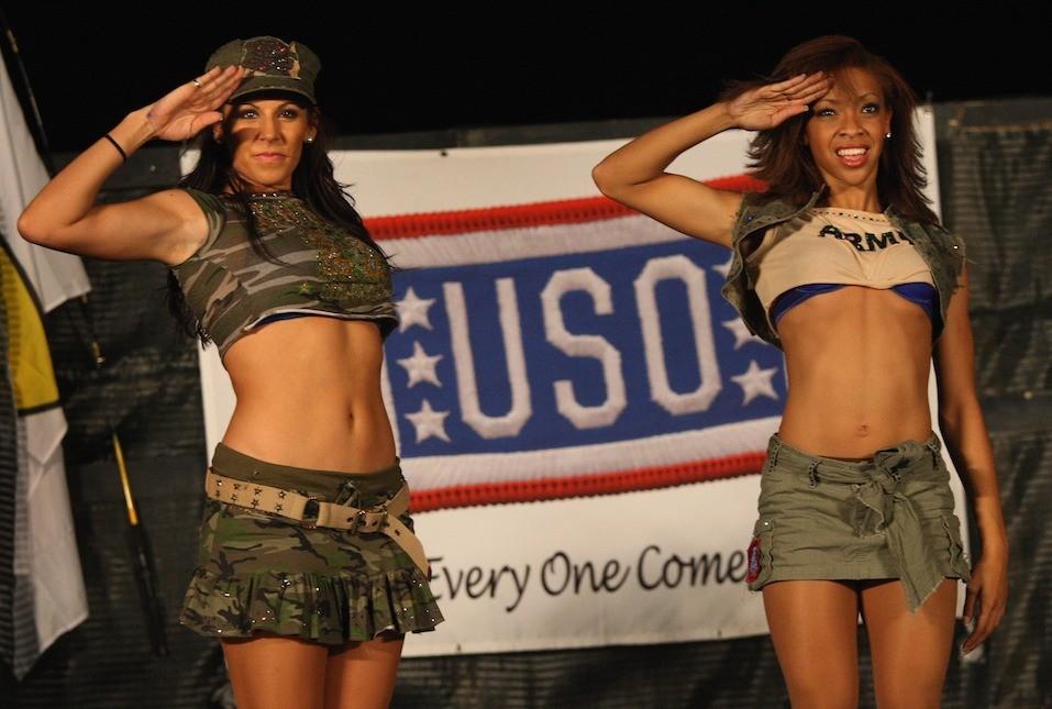 allas Cowboys Cheerleaders salute to U.S. troops