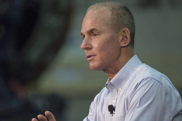 Dennis Muilenburg during a conference.