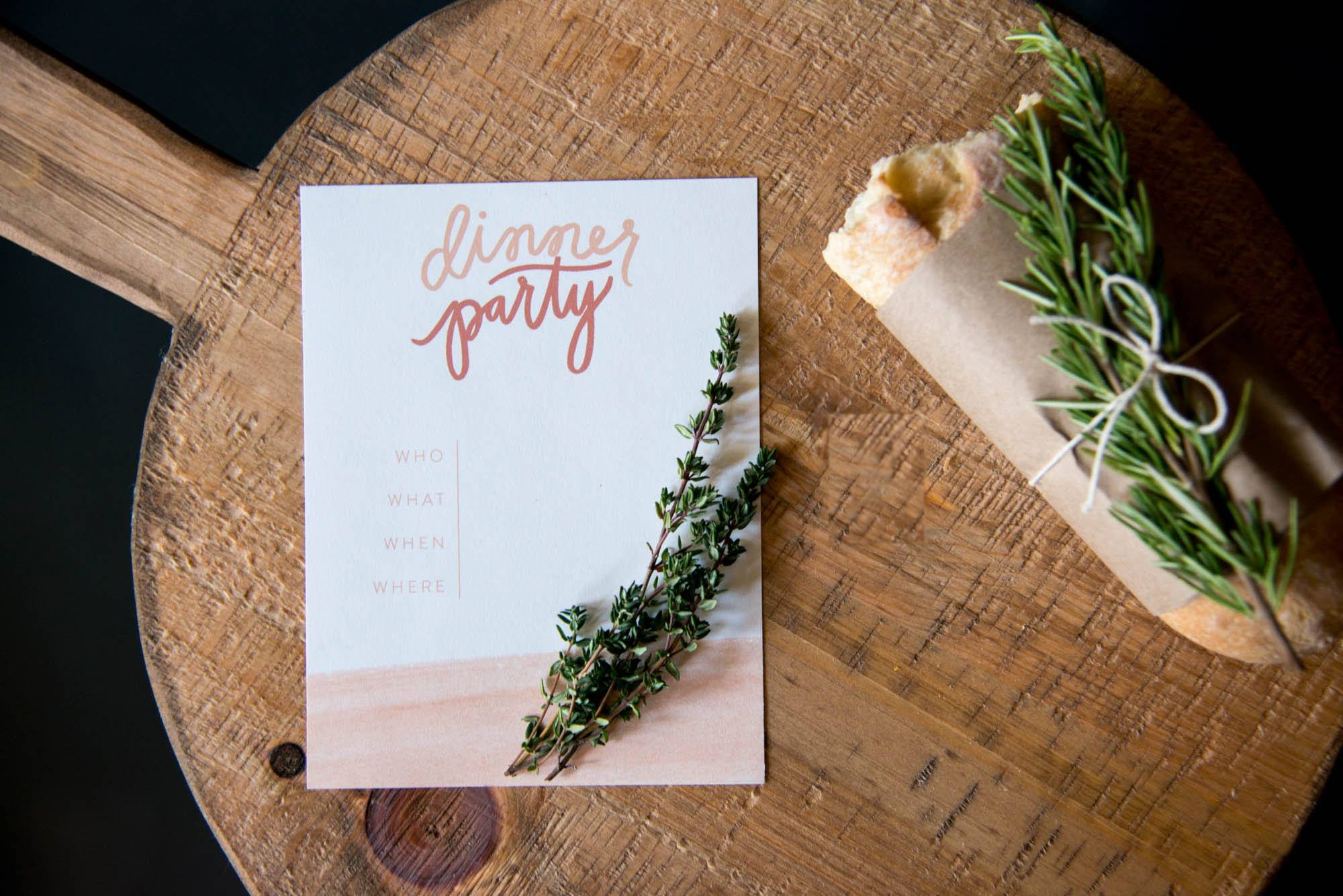 Joanna Gaines Dinner party invitation
