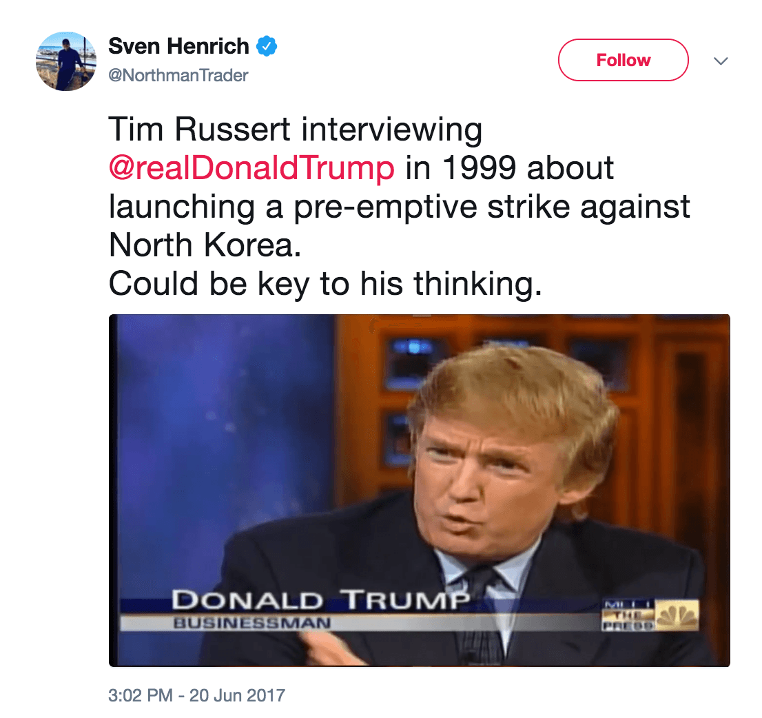 Donald Trump North Korea interview 1999
