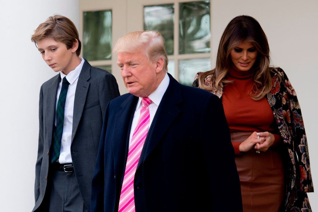 Donald, Baron and Melania Trump on Thanksgiving