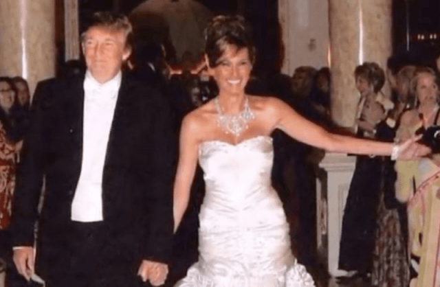 Donald Trump with Melania Trump on their wedding day.