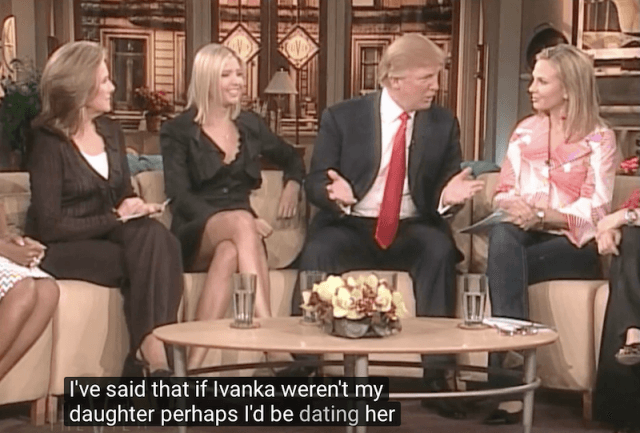 Ivanka Trump and Donald Trump on 'The View'.