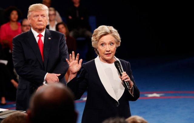 Candidates Hillary Clinton And Donald Trump Hold Second Presidential Debate At Washington University