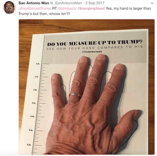 Donald Trump's hands measurement