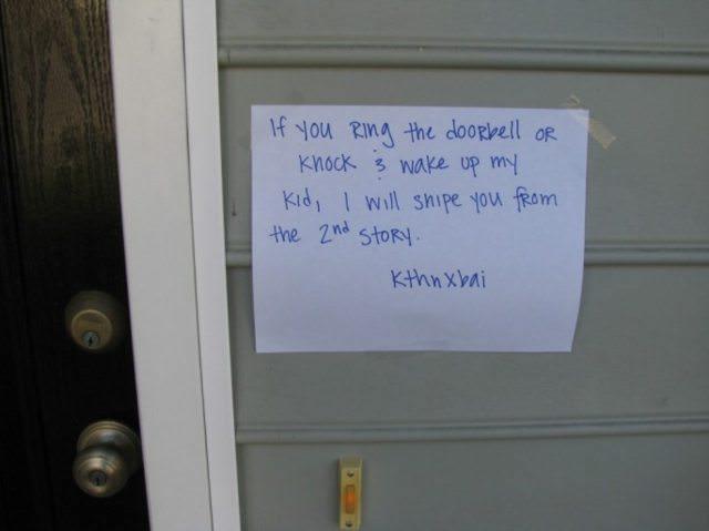 Doorbell note