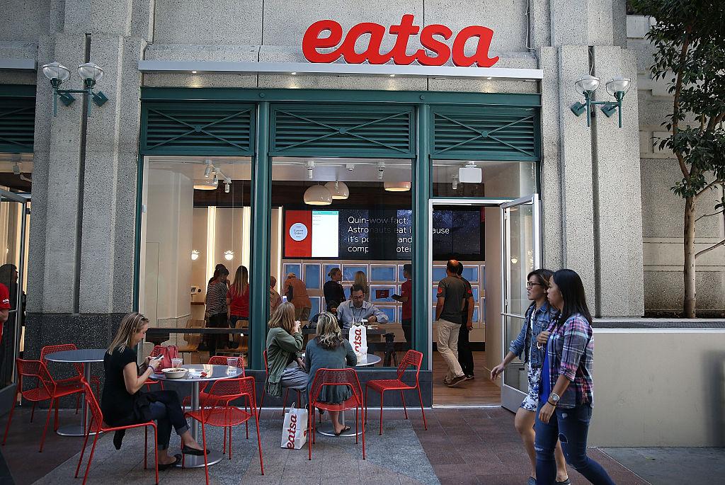 People walk by eatsa